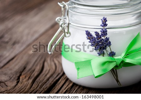 lavender and almond aromatherapy oil lavender lavender spa wellness stock photo