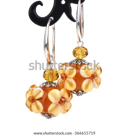 handmade  earrings from murano glass