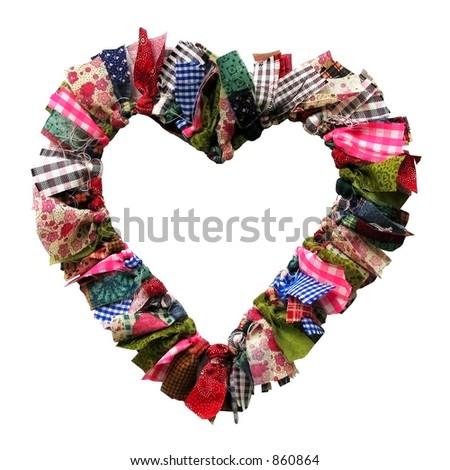 Handmade heart - stock photo