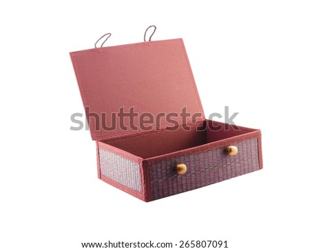 Handmade Jewelry box isolate on white - stock photo