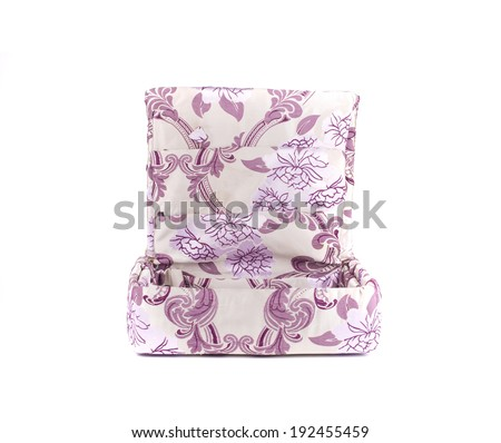 Handmade jewelry boxes with art materials for decor. Isolated on a white background.