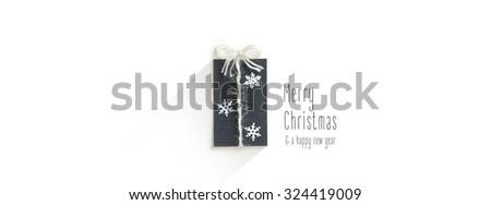 Handmade Minimal Holiday Card - stock photo