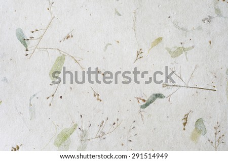 Handmade mulberry paper texture - stock photo