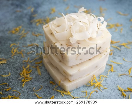 Handmade natural bars of soap