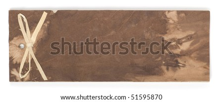 handmade note pad - stock photo