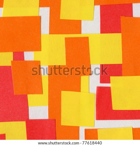 Handmade paper collage background - stock photo