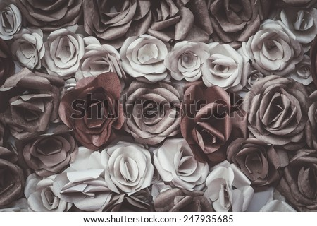 Handmade Rose backdrop with retro filter effect  - stock photo