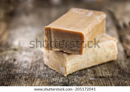 Handmade soap. - stock photo