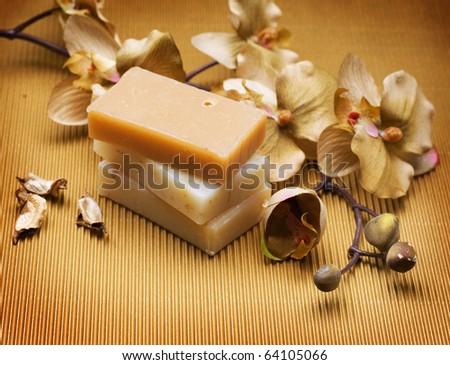 Handmade Soap.Spa - stock photo