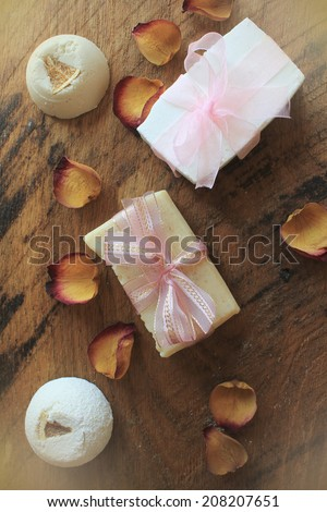 Handmade Soap ,Spa products  - stock photo