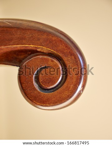 handmade solid wood armchair detail - stock photo