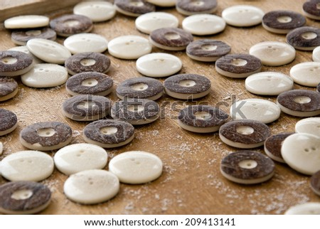 Tagua Nut Buttons Natural White With Bark - Vegetable Ivory Buttons ...