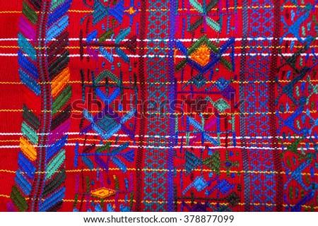 Handmade traditional guatemalan design - stock photo