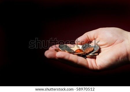 Handout for Money. - stock photo