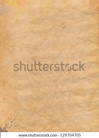 Handout notes - stock photo