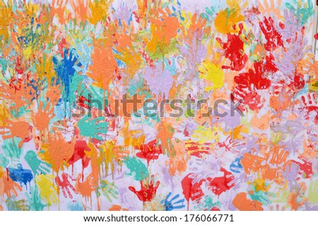 Handprint - stock photo