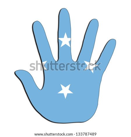Handprint with flag inside - Micronesia