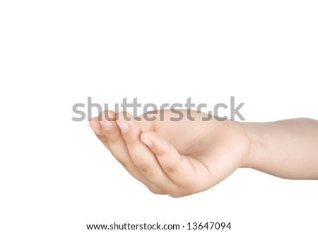 Hands and fingers isolated on white background