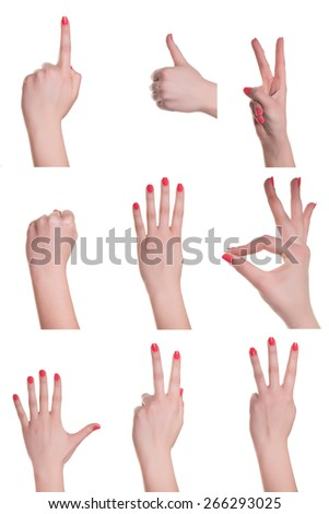 hands and signs - stock photo