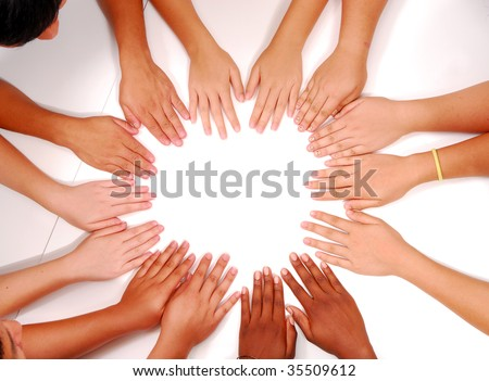 hands at the circle together
