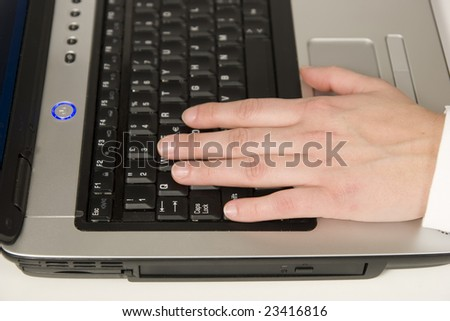 hands at work - stock photo