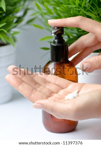 Hands Care - stock photo