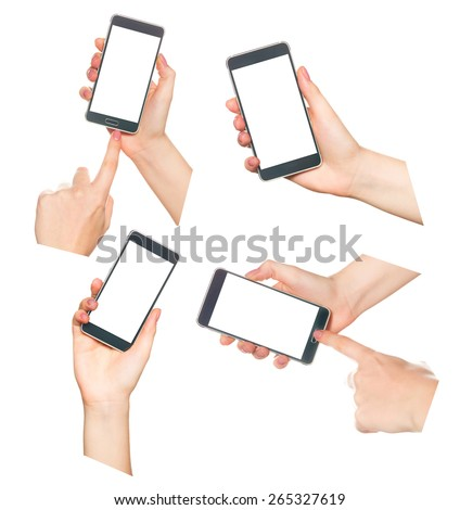 Hands collage - stock photo