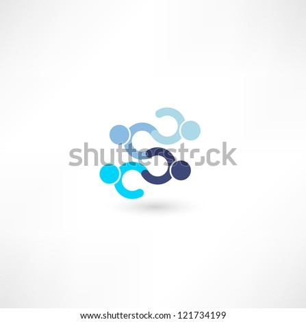 hands connecting icon - stock photo