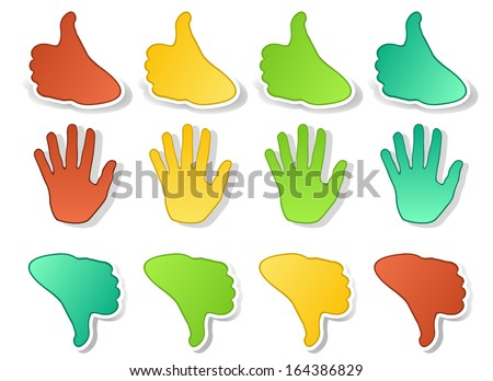 Hands expressions stickers