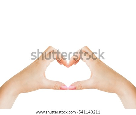 hands folded in the shape of heart