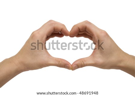 Hands Forming a Heart Shape - stock photo