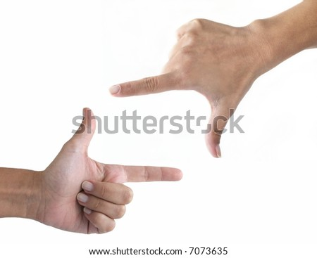 Hands frame - stock photo