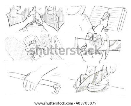 Hands gestures storyboards