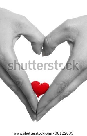 hands heart - stock photo