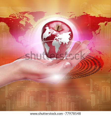 hands holding an apple representing our planet earth