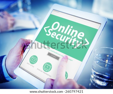 Hands Holding Digital Tablet Accessibility Concept - stock photo