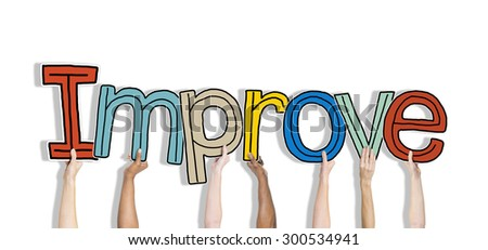Hands Holding Improve Word Concept - stock photo