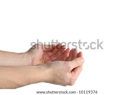 hands holding invisible object