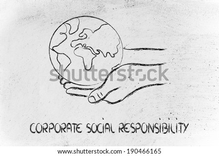hands holding the Earth, metaphor of ecology - stock photo