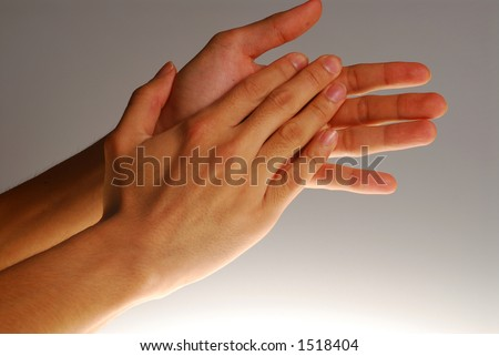 Hands in action - Clapping hands. concept for success, appreciation, etc. - stock photo
