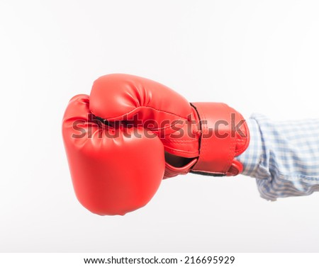 Hands in boxing gloves