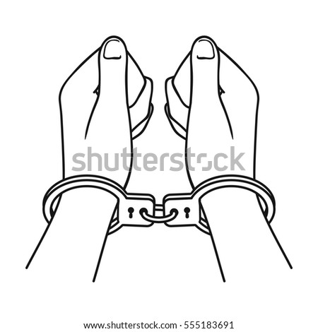 how to draw open handcuffs