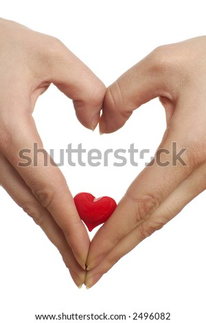hands in the same of a heart