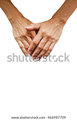 Hands isolated on white