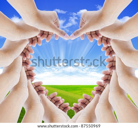hands make hearts isolated - stock photo