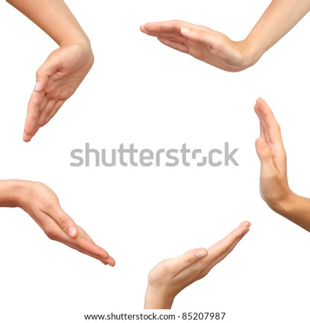 Hands making a circle isolated - stock photo