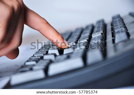 Hands of a young woman - stock photo