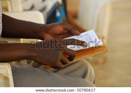 hands of an African - stock photo