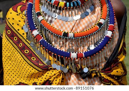 hands of an elderly Masai - stock photo