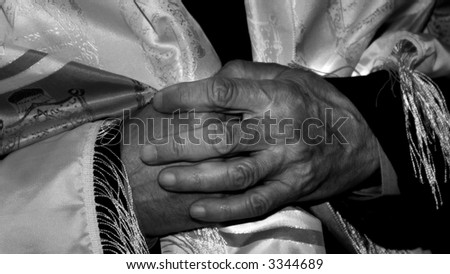 Hands of divine - stock photo